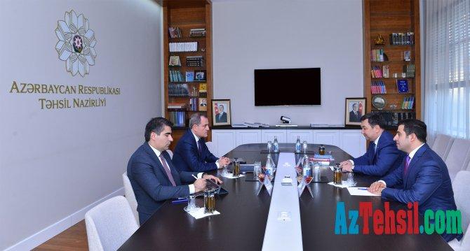 Təhsil naziri Beynəlxalq Türk Akademiyasının prezidenti ilə görüşüb