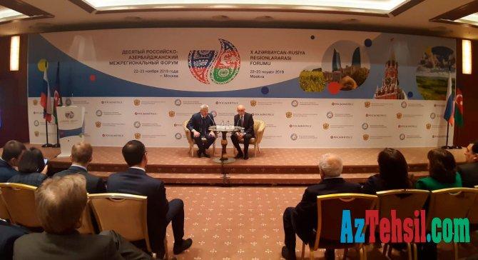 Moskvada 10-cu Rusiya-Azərbaycan Regionlararası Forumu işə başlayıb