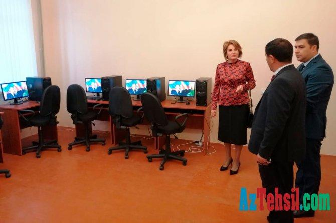 Nazir müavini Məhəbbət Vəliyeva Beyləqan rayonunda