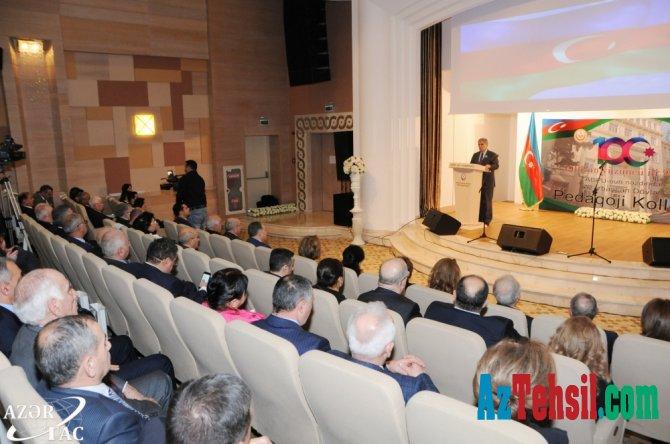 Azərbaycan Dövlət Pedaqoji Kollecinin 100 illiyi qeyd olunub