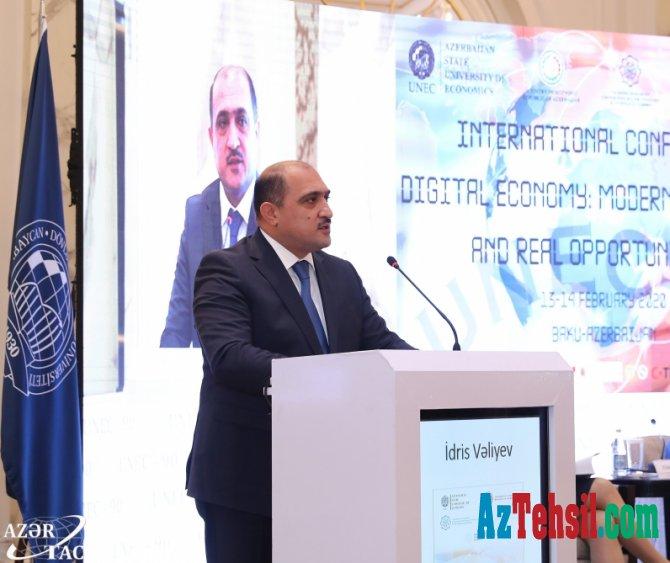 """""""Rəqəmsal iqtisadiyyat, müasir çağırışlar və real imkanlar"""" mövzusunda konfrans"""