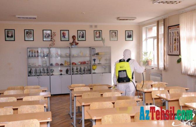 Ümumi təhsil müəssisələrində dezinfeksiya işləri genişləndirilib