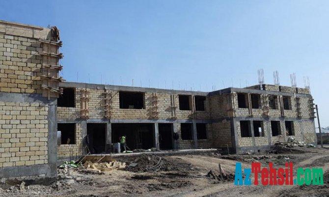 264 şagird yerlik binanın inşası davam edir