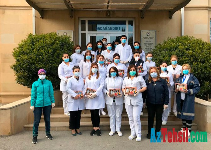 Uşaq-Gənclər İnkişaf Mərkəzi tərəfindən tibb işçilərinə dəstək