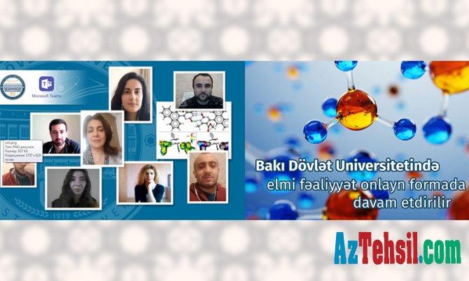 BDU-da elmi fəaliyyət onlayn formada davam etdirilir