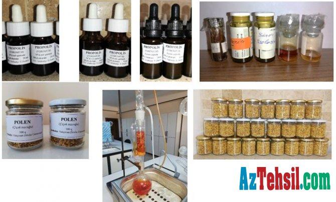 NDU-nun laboratoriyalarında müalicəvi ekstraktlar