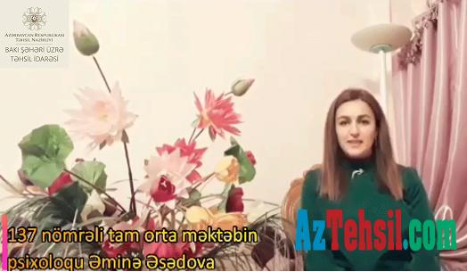 """""""Məktəb psixoloqundan tövsiyələr"""": XX videoçarx"""