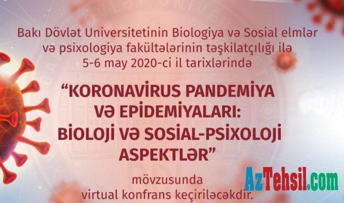 """""""Koronavirus pandemiya və epidemiyaları: Bioloji və sosial-psixoloji aspektlər"""""""