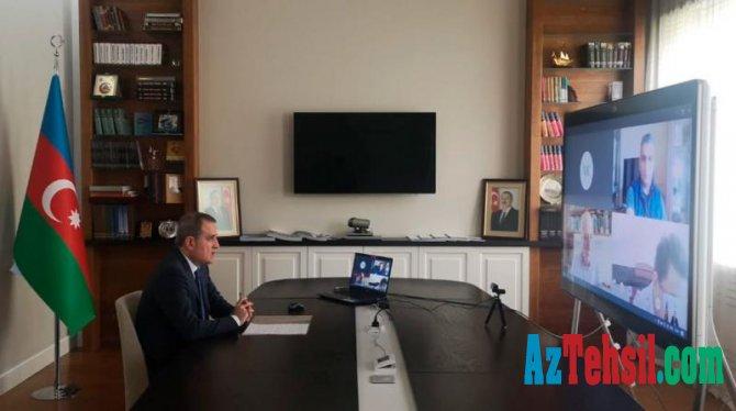 Təhsil naziri İctimai Şura üzvləri ilə videokonfrans edib