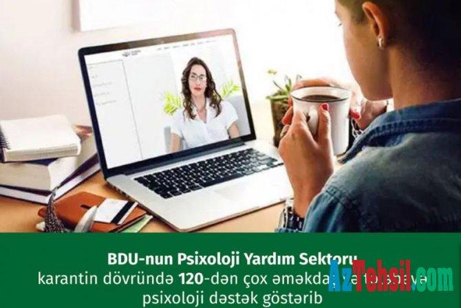 120-dən çox əməkdaş və tələbəyə psixoloji dəstək