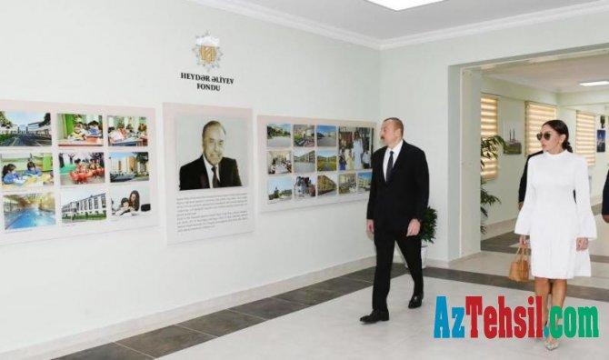 Prezident İlham Əliyev Füzuli rayon 4 saylı tam orta məktəbində yaradılan şəraitlə tanış olub