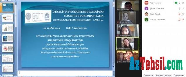MDU - nun magistrant və doktorantları UNEC-də təşkil olunan beynəlxalq elmi konfransda iştirak ediblər