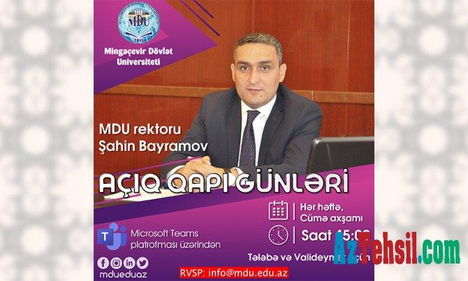 """MDU-da """"Açıq qapı"""" günləri"""