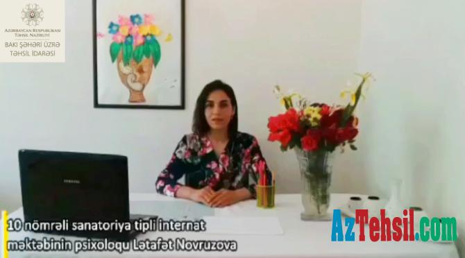 """""""Məktəb psixoloqundan tövsiyələr"""": XXIX videoçarx"""