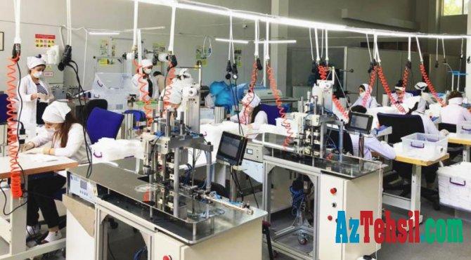 Peşə təhsili mərkəzində gündəlik 50 min maska istehsal edilir