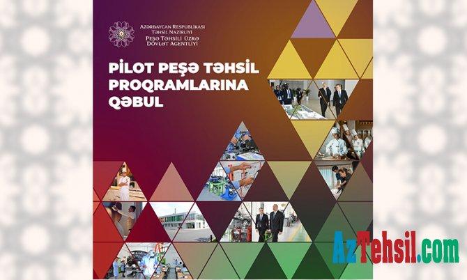 Pilot peşə təhsil proqramları üzrə tələbə qəbuluna başlanılır