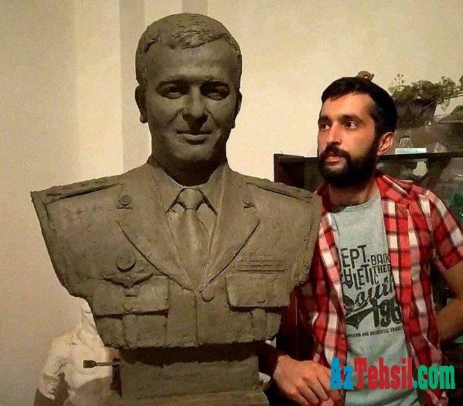 Tələbə şəhid generalın büstünü HAZIRLADI - FOTO