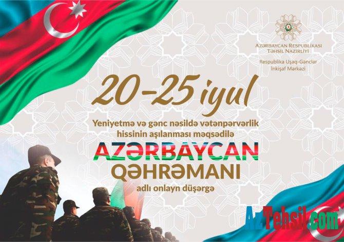 """""""Azərbaycan qəhrəmanı"""" virtual düşərgəyə start verilib"""