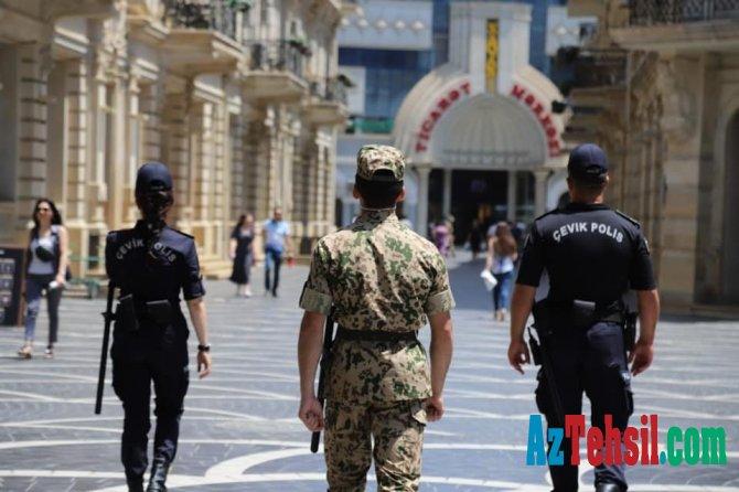 Buraxılış imtahanları keçirilən ərazilərdə polis və Daxili Qoşunların hərbi qulluqçuları xidmət aparır