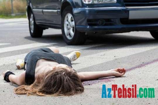 Bakıda avtomobil 13 yaşlı qızı vurdu
