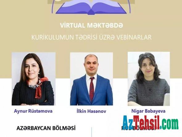 """""""Virtual məktəb""""də kurikulumun tədrisi üzrə ödənişsiz vebinarlar davam edir"""