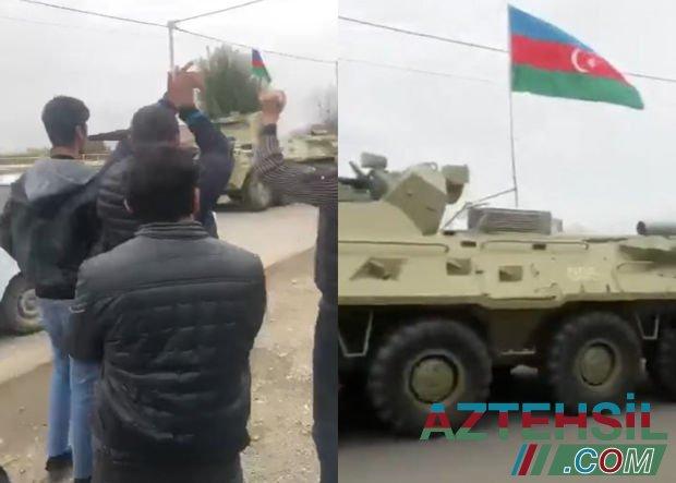Azərbaycan ordusunun zirehli texnikaları Ağdama aparılır - VİDEO