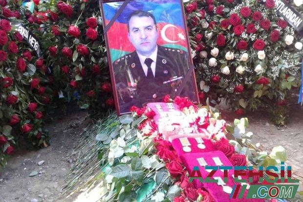 Şəhid polkovnik Babək Səmidli dəfn olunub - FOTO