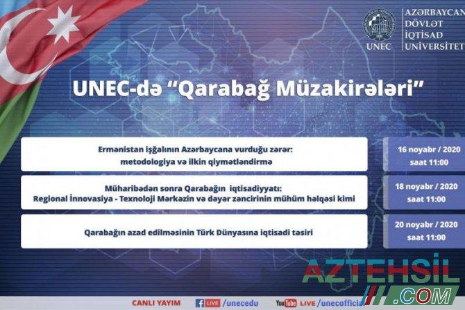 UNEC-də Qarabağ iqtisadiyyatı ilə bağlı müzakirələr