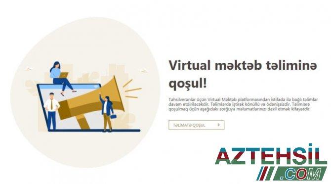 """""""Virtual məktəb""""də 1,2 mln. şagird və müəllim qeydiyyatdan keçib"""