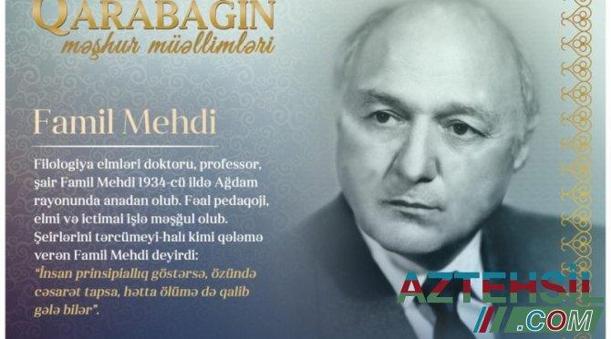"""""""Qarabağın məşhur müəllimləri"""" – Famil Mehdi"""
