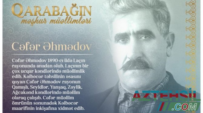 """""""Qarabağın məşhur müəllimləri"""" – Cəfər Əhmədov"""