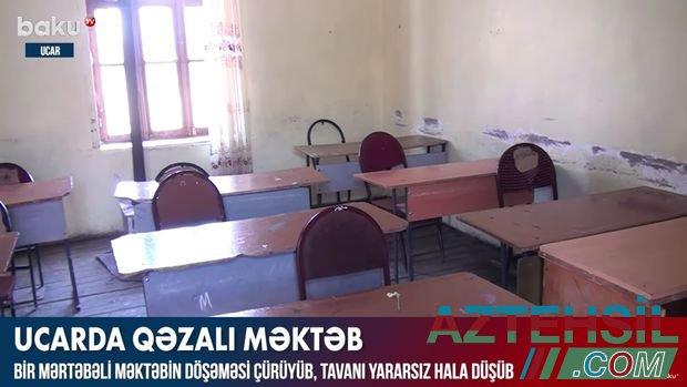Ucarda qəzalı məktəb şagirdlərin həyatı üçün təhlükə yaradır - VİDEO