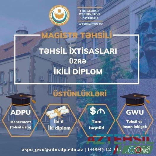 Təhsil ixtisası üzrə ikili diplom proqramı