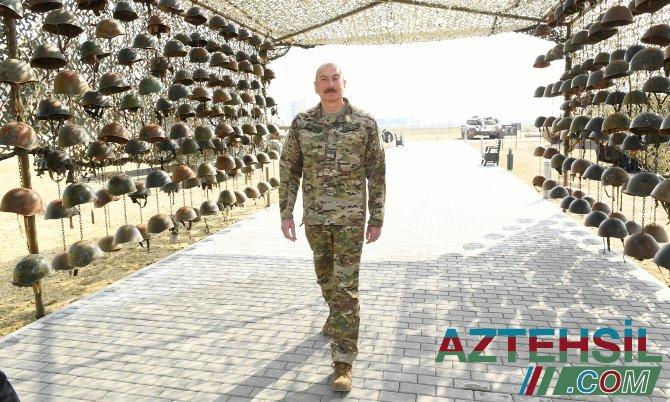 Prezident Bakıda Hərbi Qənimətlər Parkının açılışında iştirak edib