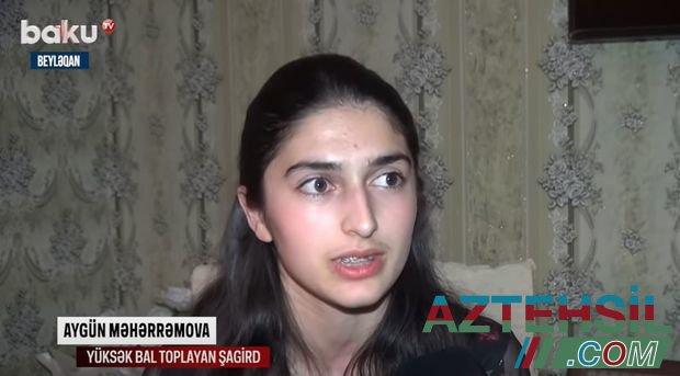 Beyləqan sakini buraxılış imtahanlarında ən yüksək bal topladı - VİDEO