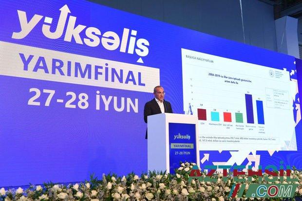 """""""Yüksəliş"""" müsabiqəsinin yarımfinalçıları nazirlə görüşdü"""